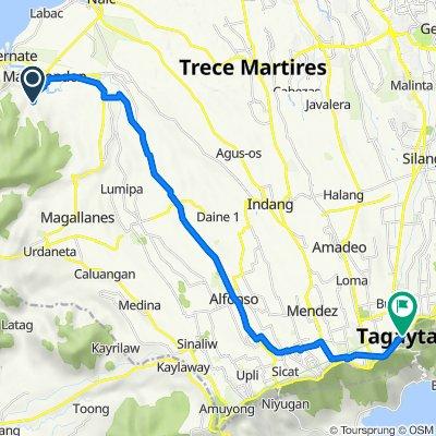 Pinagsanhan I B, Maragondon to Silang Junction South, Tagaytay