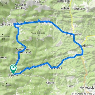Borredà Radfahren