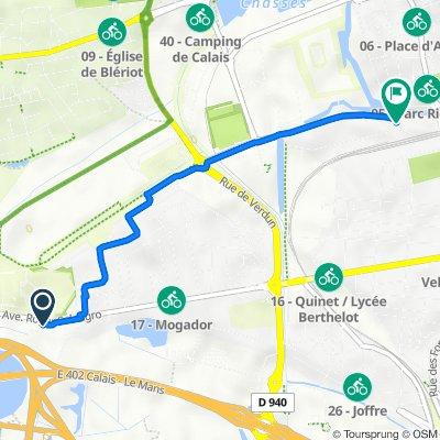 1265 Avenue Roger Salengro, Calais nach Quai du Danube, Calais