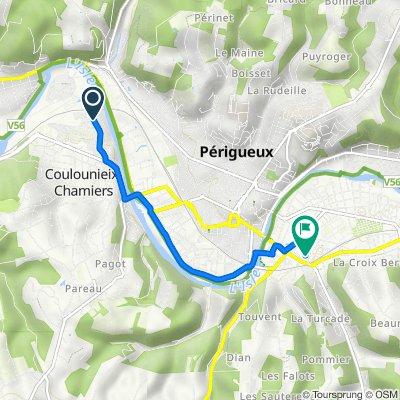 De 3bis Avenue du Maréchal de Lattre de Tassigny, Coulounieix-Chamiers à 9 Rue Haute des Commeymies, Périgueux