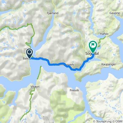 Kong Beles Veg 18, Balestrand to Gravensteinsgata, Sogndal
