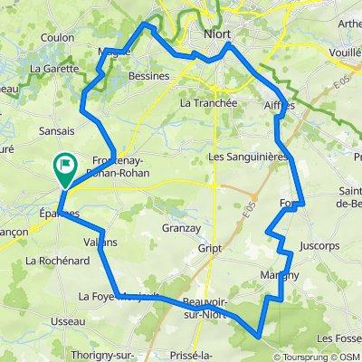 De 18 Chemin de Sainte-Catherine, Frontenay-Rohan-Rohan à 18 Chemin de Sainte-Catherine, Frontenay-Rohan-Rohan