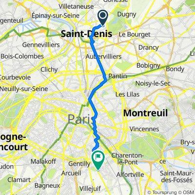 De 12 Allée de l'Île-de-France, Saint-Denis à 40 Avenue Henri Barbusse, Ivry-sur-Seine