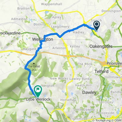 68 Juniper Dr, Telford to Cranleigh, Wellington Road, Telford