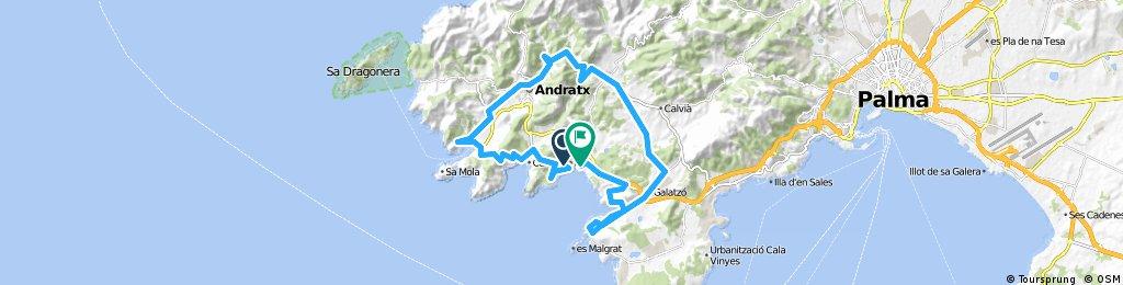 Peguera - Cala Fornells - Camp de Mar - Pt d'Andratx - es Capdellà - Santa Ponça - Peguera