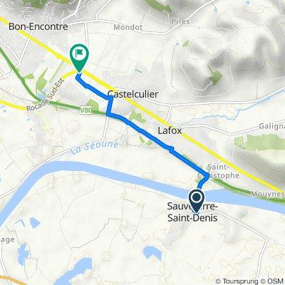 De 8 Le Bourg, Sauveterre-Saint-Denis à 34 Rue Albert Ferrasse, Castelculier