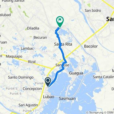 Unnamed Road, Lubao to Unnamed Road, Santa Rita