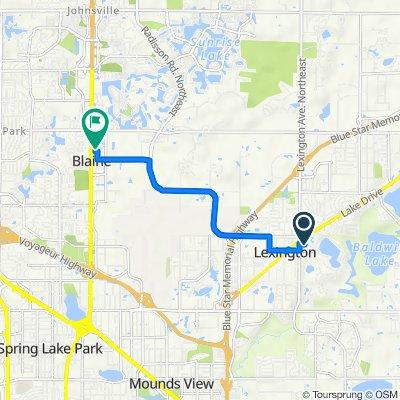 33 Village Pkwy, Circle Pines to 10650 Baltimore St NE, Blaine