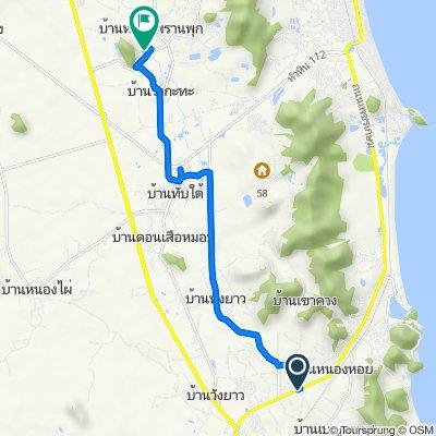 Route from Thanon Phet Kasem, Pran Buri