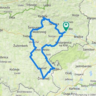 190 km - Hotemež, Črnomelj, Metlika, Šentjernej