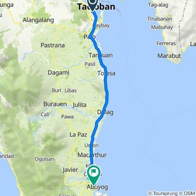 Ninoy Aquino Avenue, Tacloban City to Daang Maharlika Highway, Abuyog