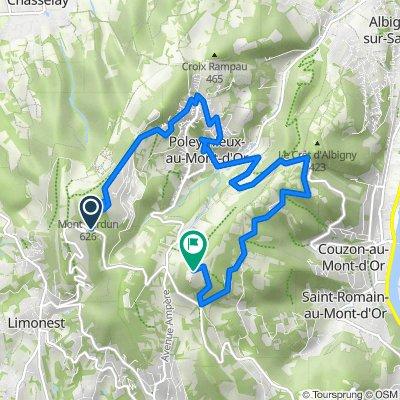 De D92, Poleymieux-au-Mont-d'Or à Mont Thou, Saint-Cyr-au-Mont-d'Or