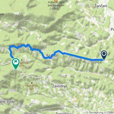 Route to Šentvid pri Zavodnju 6, Šoštanj