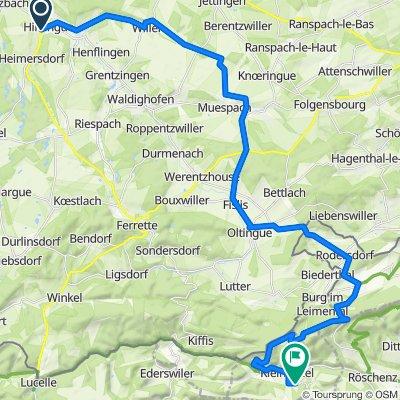 De 3 Rue Leclerc, Hirsingue à Huggerwaldstrasse 465, Kleinlützel