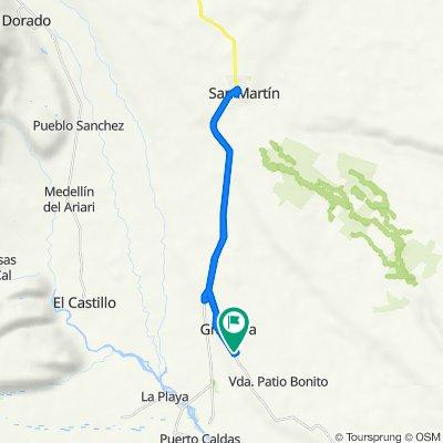 De Calle 7, Granada a Carrera 13 Vía Nacional 65 8-62–100, Granada