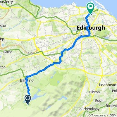 Route to 4 Bonnyhaugh Lane, Edinburgh