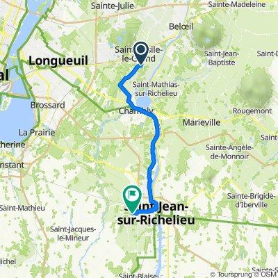 14 Rue des Martinets, St-Basile-le-Grand to 855 Rue Claude, St-Jean-sur-Richelieu