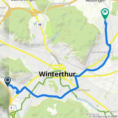 Nägelseestrasse 71, Winterthur nach Farmerstrasse 18, Winterthur