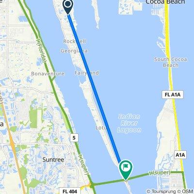 882 Woodbine Dr, Merritt Island to Pineda Cswy, Merritt Island