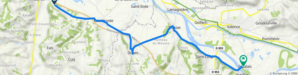 De 1116 Route de Caudecoste, Layrac à 6 Rue du Barry, Espalais