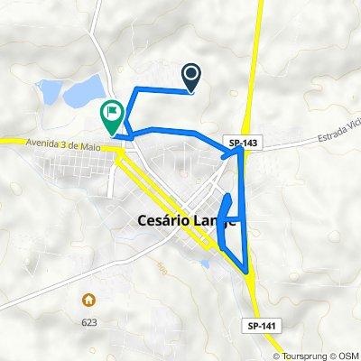 Rota para Rua Washington Luís, 2–192, Cesário Lange