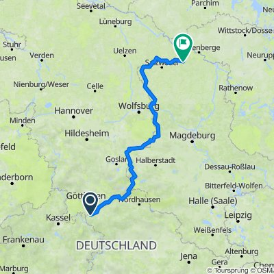 4. Etappe Göttingen - Arendsee
