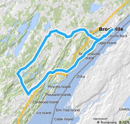 Brockville West 5 - Caintown Cruise Loop (48 km)