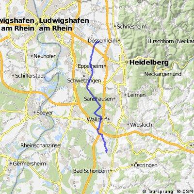 Von SAP Rot nach Edingen-Neckarhausen CLONED FROM ROUTE 900202