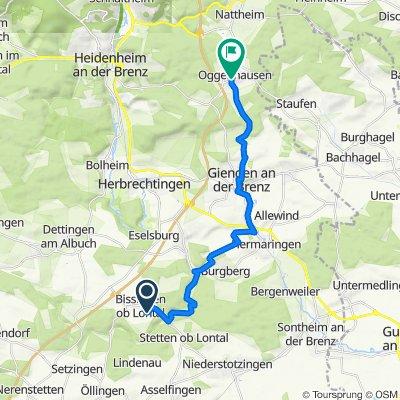 Akazienweg 2, Herbrechtingen nach Oggenhauser Hauptstraße 6, Heidenheim an der Brenz