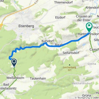 Mühltal 12, Weißenborn nach Am Bahnhof 4, Crossen an der Elster