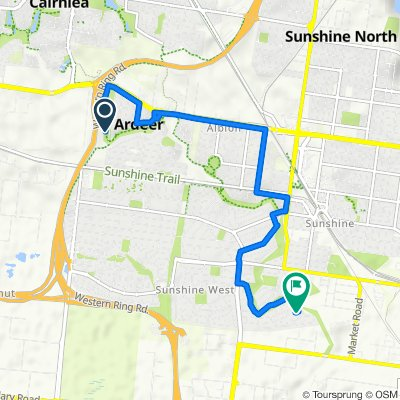 Western Ring Road Path, Ardeer to 1 Bickley Court, Sunshine West