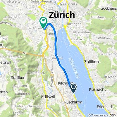 Seestrasse 8, Rüschlikon nach Malzstrasse 17, Zürich