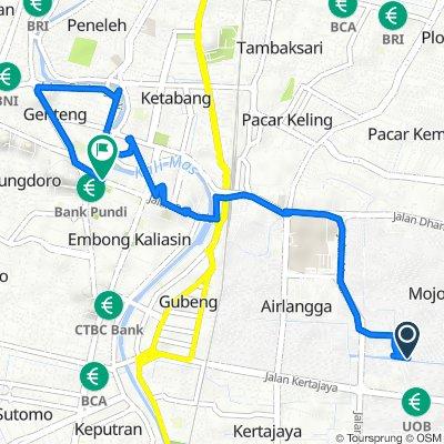 Kalidami VIII 20, Kecamatan Gubeng to Jalan Simpang Dukuh 21, Kecamatan Genteng