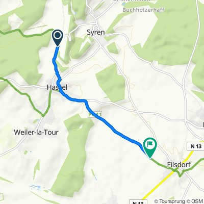 Route to Kabesbierg, Dalheim