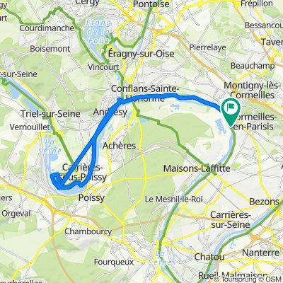 De 48bis Quai de Seine, La Frette-sur-Seine à 48bis Quai de Seine, La Frette-sur-Seine