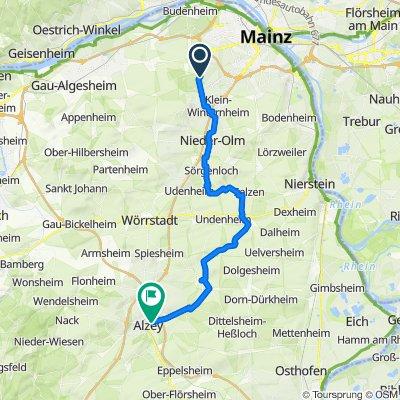Rubensallee 36, Mainz nach Nibelungenstraße 35, Alzey