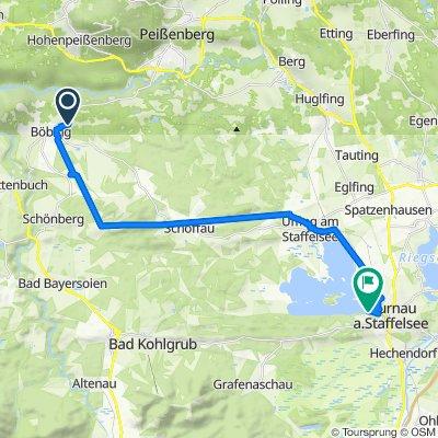 Jägerweg 24, Böbing nach Seewaldweg 27, Seehausen am Staffelsee