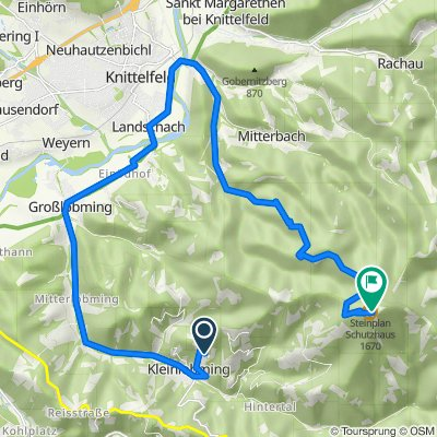 Route von Sonnberg I 22, Großlobming