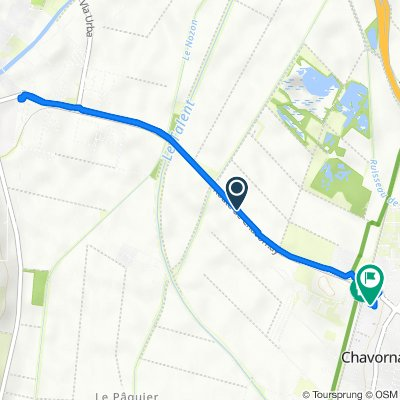 Unnamed Road, Chavornay to Rue du Jura 14E, Chavornay