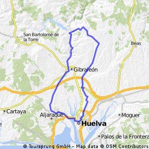 Huelva-Aljaraque-Gibraleón-Subida Río Odiel-Estación De Belmonte-El Partido-Huelva