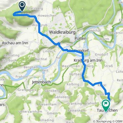 Route nach Am Nemerberg 9–10, Taufkirchen