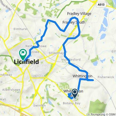 31–35 Common Lane, Whittington, Whittington Barracks, Lichfield to 23B The Close, Lichfield