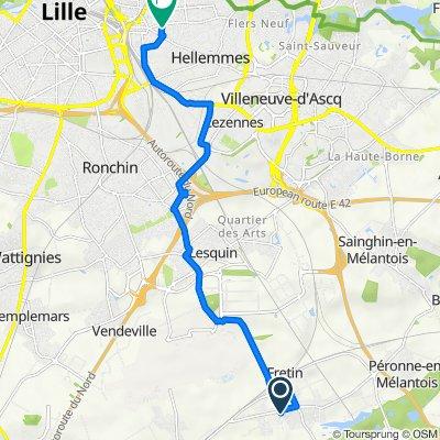 De 43ter Rue Pasteur, Fretin à 54 Rue Mirabeau, Lille