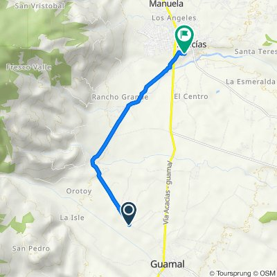 De Transversal 3A, Guamal a Carrera 17A 17A-23, Acacías