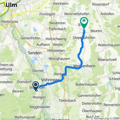 Antoniusweg 9, Illerrieden nach Molkereiweg 28, Pfaffenhofen an der Roth