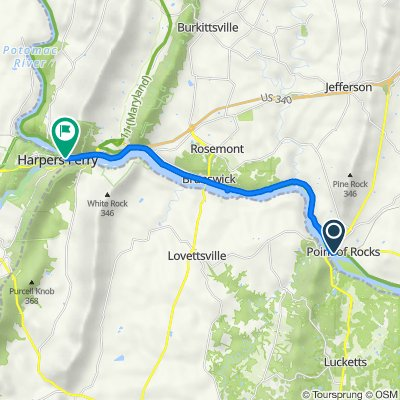 C&O lovettesville to Harpers Ferry