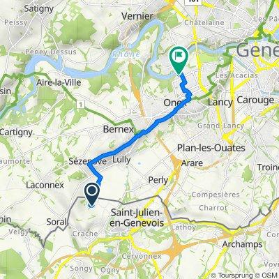 De 50 Chemin des Lauriers, Saint-Julien-en-Genevois à Rue du Comte-Géraud 14, Onex