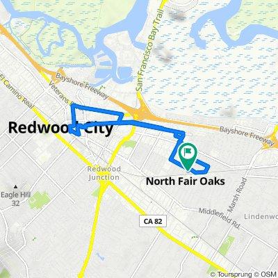 3203 Fair Oaks Ave, Redwood City to 3200 Fair Oaks Ave, Redwood City