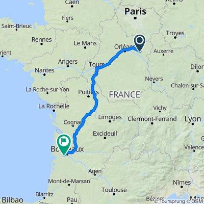De 14–20 Route de La Cour-Marigny, Montereau à 15 Chemin Bastian, Cestas