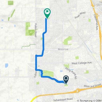 1824 W Third St, Santa Rosa to 2062 Peterson Ln, Santa Rosa